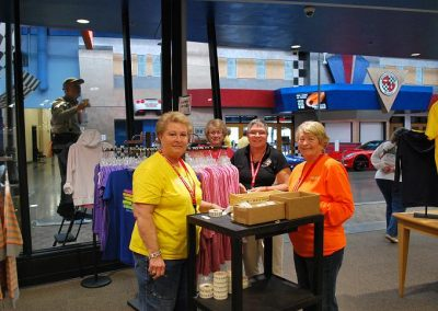 The Ladies working in the nCM Store were Sharon L., Eva Y., Debbie S., Mary Ann M. and Cheryl W.. They were asked to put size stickers on all clothes in the store. Mission accomplished