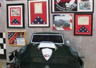 One of the Corvette benches along Corvette Boulevard inside the Museum